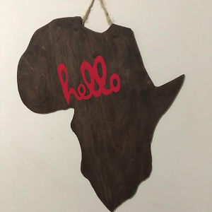 Hello Africa Map wall hanging