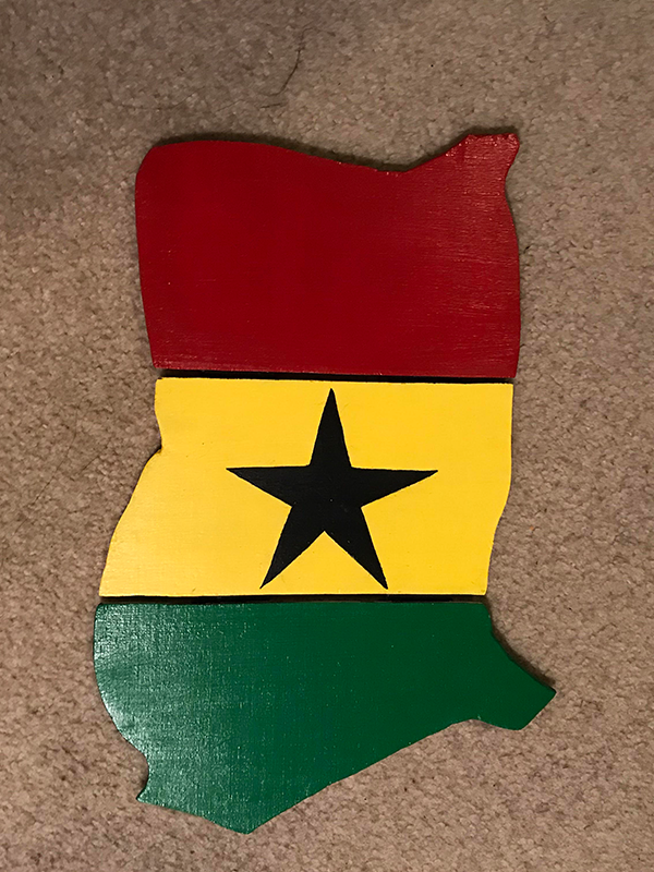 Map of Ghana Wall Hanging